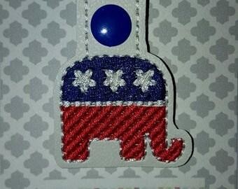 USA ~ Elephant Key Chain
