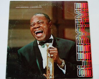 "Louis Armstrong  Sleepy Time  A Remembrance - Satchmo - Jazz - ""Ain't Misbehavin""  ""All of Me"" - Columbia Special 1972 - Vinyl Record Album"