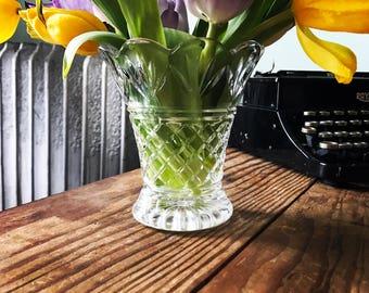 Antique crystal vase