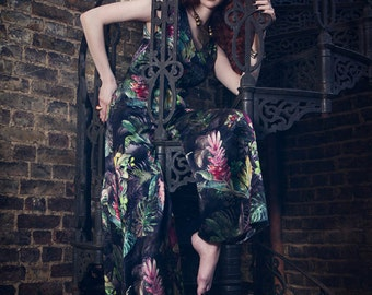 Tropical Beach Pajamas - Tropical Jumpsuit for wearing everywhere not just beach or bed