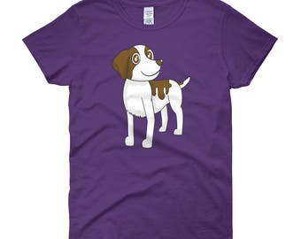 Brittany dog Woman T-Shirt