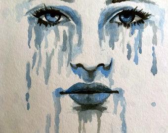 Blue Watercolor Eyes