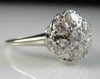 1950s Prism-Lite Diamond Engagement Wedding Ring 1 ct. 14k