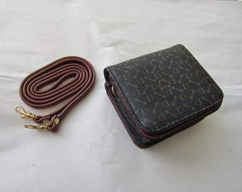 Equestrian ENGLISH BITS & STIRRUPS Faux Leather Combo Wallet/Crossbody Bag Purse