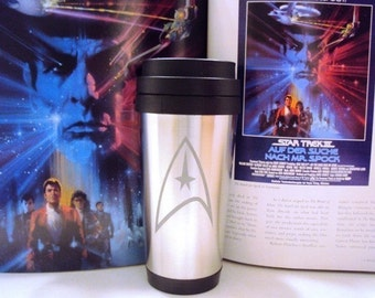 Etched Star Trek  Stainless Steel Insulated Cup by Jackglass on Etsy