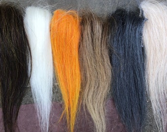 6 pack Long Fiber Synthetic Fly Tying Material