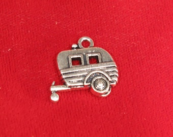 """5pc """"trailer"""" charms in antique silver style (BC860)"""