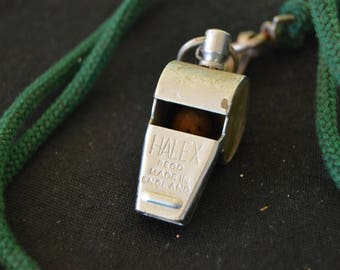Vintage Halex Silver Metal Whistle 1960's Made in England