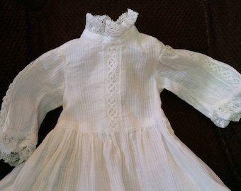 Vintage Cotton Doll Christening Dress