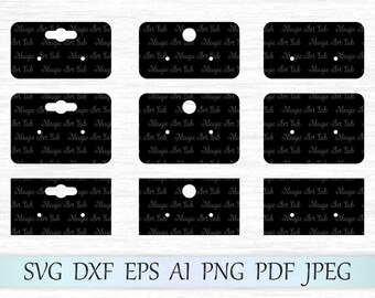 Earring display cards svg, Earring cards template, Earring display svg, Earring cards cricut, Earring cards cut file, Earring cards svg file