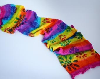 Curved Air - rainbow striped sock blank, sock yarn, self-striping, 4-ply