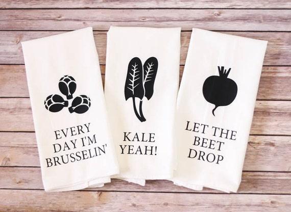 Set of 3 flour sack towel song lyric towel gift idea like this item stopboris Image collections