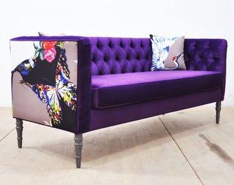"Loveseat - purple love ""3 seater sofa"""