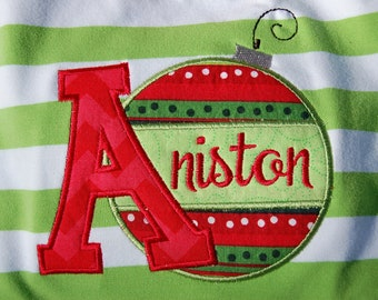 Initial and Name Ornament Shirt