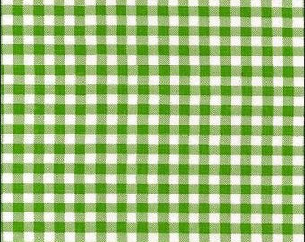 Large Round Oilcloth Tablecloth Gingham Lime