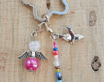 Angels, lucky charms keychain