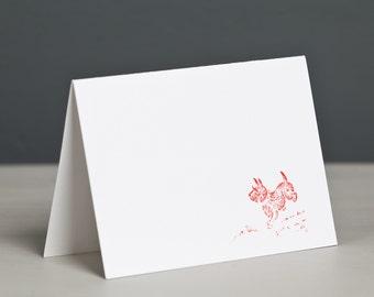 Letterpress Scottish Terrier Card, Scotty, Scottie, Dog Card, Free UK Postage