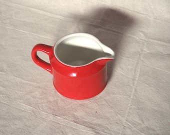 cute vintage small red creamer