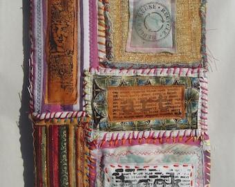 Handmade Art Journal with Fabric Covers