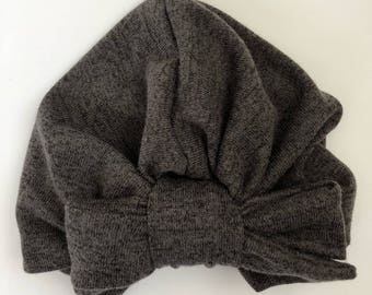 Purple Grey Turban