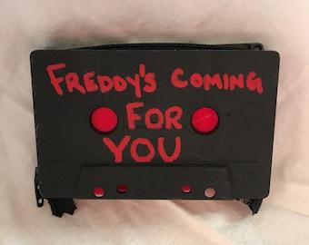 1 2 Freddy's Coming For You Freddy Krueger Cassette Tape Wallet