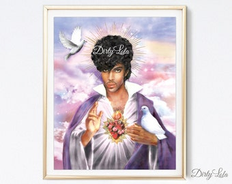 Saint - Parody Art Print - Jesus - Fan Art - Illustration - Portrait - Painting- Portrait - Dirty Lola - Kitsch
