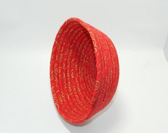 Clothesline Wrapped Fabric Bowl