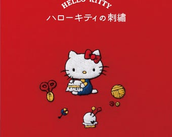 NEW : HELLO KITTY embroidery book - Japanese character embroidery patterns book