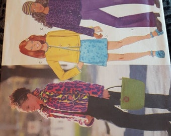 Butterick 5722, Girl's Jacket, Top, Skirt, and Pants Sewing Pattern