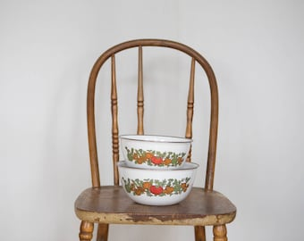Vintage enamel mixing bowls
