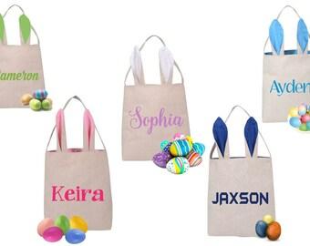Monogrammed Easter Basket, Easter Basket, Personalized Easter Bag, Easter Bunny Basket, Monogram Easter Basket