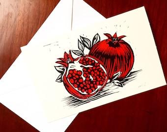 """Pomegranate Holiday Card 5x7"""""""