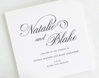 Classic Script Wedding Programs - Deposit