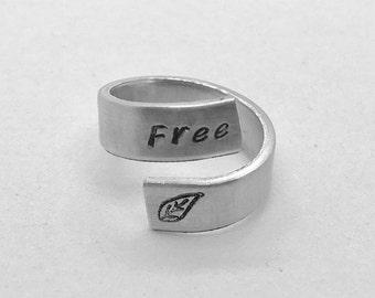 Free Leaf Wrap Ring