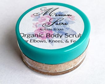 Organic Body Scrub ~ Himalayan Salt Scrub ~ Travel Size ~ Natural Foot Scrub ~ Pink Salt Scrub ~ Vegan Body Scrub ~ Sea Salt Scrub