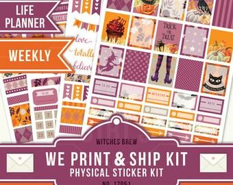 HALLOWEEN STICKER KIT, Fall Planner Sticker, Erin Condren Planner Sticker, Weekly Planner, Fall Sticker Kit, October Planner Kit, 17051