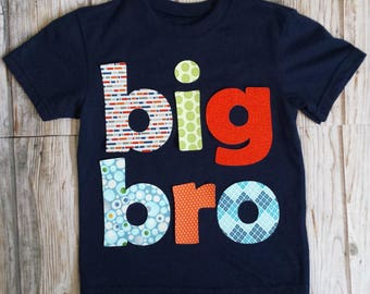 Big Brother Shirt-Big Bro Shirt-READY TO SHIP-2T short sleeve-Big Little Shirts-Sibling Shirts-Big Bro-Birth Announcement-Big Brother Tee