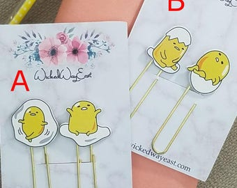 Cute Chick Planner Paper Clips, TN Clips, TN Charms, Cute Kawaii Paperclips, Planner Stationary Accessories