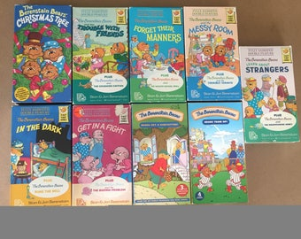 Lot Of 9 The Berenstain Bears and the Messy Room (VHS)