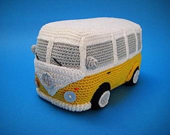Amigurumi VW Camper Van Bus Volkswagen Inspired Car PDF Crochet  PATTERN T1