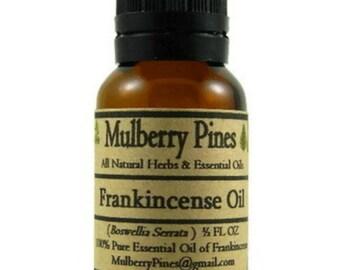 Frankincense Essential Oil - Boswellia serrata - 1/2 Ounce Bottle - Mulberry Pines