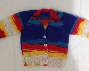 Handknitted Baby Boy Cardigan