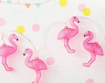 Garland deco bright tropical Flamingo party or decoration