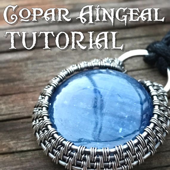 TUTORIAL Halo Wire Wrapped Pendant lesson for a Cabochon