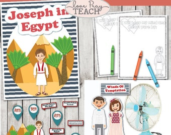 """LDS Primary 6 Lesson 16: """"Joseph in Egypt"""" Lesson packet includes Title Poster, Attention Grabber, Coloring Page and much more!"""