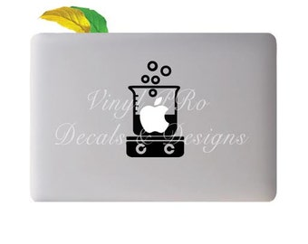 Chemistry Reaction Glassware Chemist Research Hot Plate Lab Cookware Decal for Apple Macbook