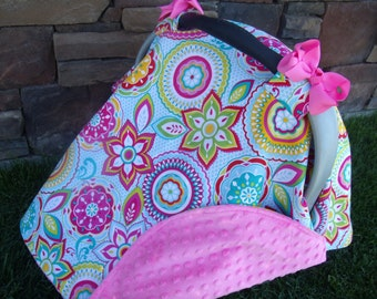 Carseat Canopy Minky Flower Blanket Cover car seat canopy car seat cover nursing cover