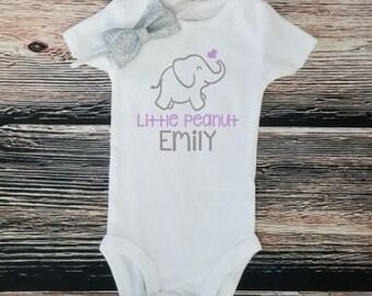 Little Peanut bodysuit, Elephant bodysuit, Baby shower gift