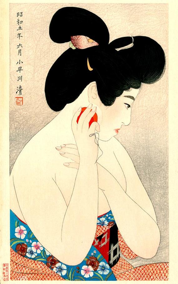 Japanese art prints japanese geishas beautiful women