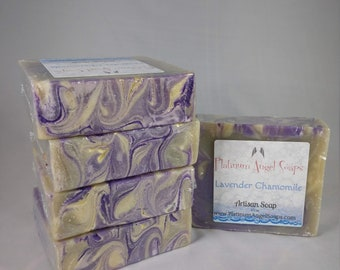 Lavender Chamomile/ Cold Processed - Handmade Soap
